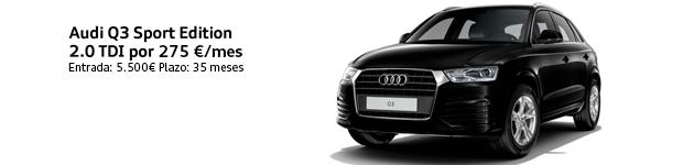 Audi Q3 Sport Edition 2.0 TDI por 275€/mes